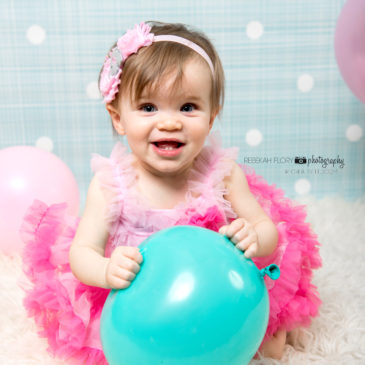 Lily turns One Year Old in a beautiful pink dress!